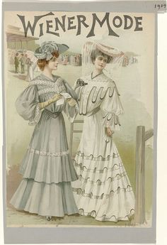1904 May, Wiender Mode - Dresses for the races
