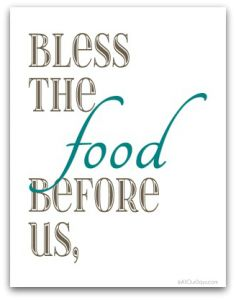 Free Food, Family, Love (Brown and Aqua) Free Wall Art Download-of-the-Day