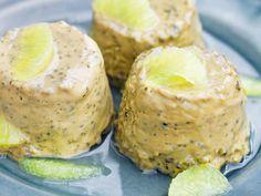 Charlottas lakritsparfait med limesås