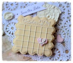 Save the Date Calendar Cookie Favors Wedding by TheTailoredCookie, $66.00