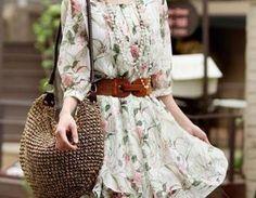Floral Print Half Sleeve Crew Neck Bodycon Midi Dress