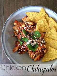 These delicious chicken chilaquiles are the first offering in my brand new Dinner in a Snap series. Your family is going to love this quick and yummy dish.