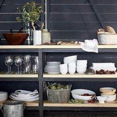 Williams Sonoma Open Kitchen Oven to Table Rectangular Baker Modern Grey Kitchen, Modern Outdoor Kitchen, Grey Kitchen Designs, Glass Shelves Kitchen, Kitchen Storage, Kitchen Decor, Kitchen Organisation, Kitchen Ideas, Kitchen Cabinets
