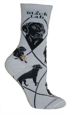 Rottweiler Dog Blue Cotton Ladies Socks
