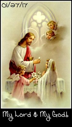 Aspirations After Holy Communion O my Queen, thou hast given me Jesus in thy heart, therefore, now, with the same true h. First Communion Veils, Communion Gifts, Communion Dresses, First Holy Communion, Pictures Of Jesus Christ, Religious Pictures, Religious Art, Holy Mary, Catholic Sacraments