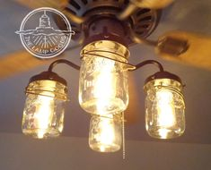 vintage canning jar ceiling fan light kit by lampgoods on etsy 220 ceiling fan light