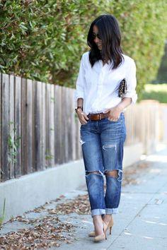 Button Down Crisp White 2017 Street Style