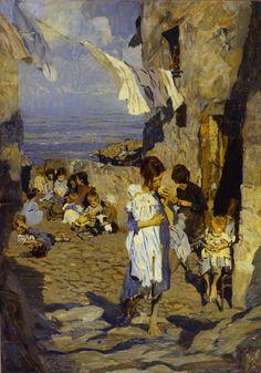 Ettore Tito (1859 - 1961), Il mondo non finisce - 1895