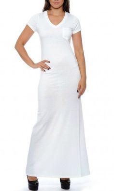 One shoulder maxi dress white xl