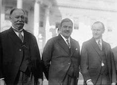 Supreme Court Justice William Howard Taff, Mexican President Gen. Calles, U.S. President Calvin Coolidge at White House