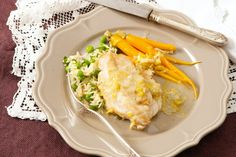 Try this succulent French specialty featuring chicken with a fragrant white wine sauce.
