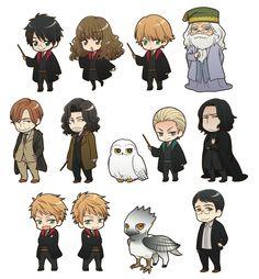 Harry Potter kawaii designs draft