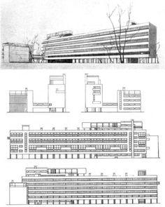 """nickkahler: """" Moisei Ginzburg + Ignaty Milinis, Narkomfin Building, Moscow, Russia, 1928-30 (via oginoknauss) """""""