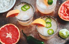 This margarita is the absolute best and easiest sweet, spicy cocktail for all your entertaining needs! The heat of the infused jalapeño pairs wonderfully with grapefruit and tequila. Don't forget t…