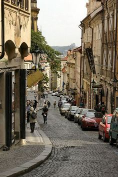 Nerudova Street, Prague, Czech Republic h