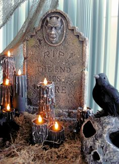 Studio Slyter: DIY Halloween Candles  Pretty flipping cool!!