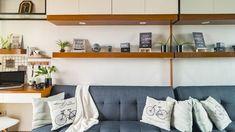 A Student Designed This Studio Unit with A 000 Budget Condo Interior Design, Condo Design, Studio Design, Minimalist House Design, Minimalist Home, Small Condo Decorating, Decorating Ideas, Small Condo Living, Condominium Interior