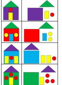 Kindergarten is a joy for children! Preschool Learning Activities, Preschool Worksheets, Infant Activities, Preschool Activities, Educational Activities, Kids Learning, Shape Activities, Art For Kids, Crafts For Kids