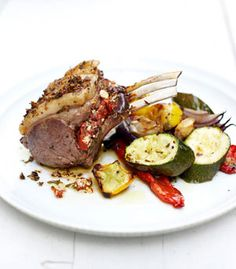 This impressive, intensely flavoured rack of lamb is one hell of a showstopper