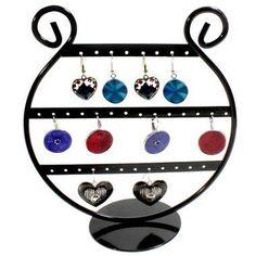 Porte bijoux Lyre, présentoir boucle d'oreille en métal en forme de lyre musicale de 19 cm de hauteur idéale pour exposer ou ranger 16 paires de boucles.