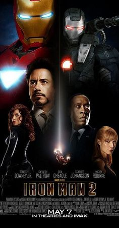 Directed by Jon Favreau.  With Robert Downey Jr., Mickey Rourke, Gwyneth Paltrow, Don Cheadle. With the world now aware of his identity as Iron Man, Tony Stark must contend with both his declining health and a vengeful mad man with ties to his father's legacy.