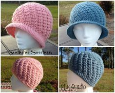 Please Favorite or Queue in Ravelry! I'm so proud to once again partner with Crochet for Cancer and design this hat in honor of Breast Cancer Awareness this month. Southern Sweetness has great texture which is perfect for the chemo patient needing something to keep them warm in the winter...