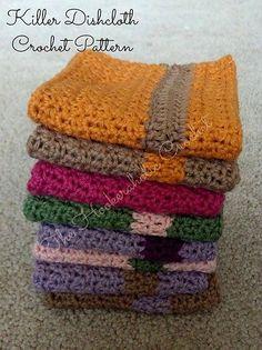 Ravelry: Killer Dishcloth pattern by Shannon Kilmartin/The Hookeraholic Crochet