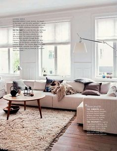 Pale Neutrals In Sectional Living Room Via Living Etc Living Room Interior,  Home Living Room