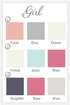Girls Nursery Room Colours
