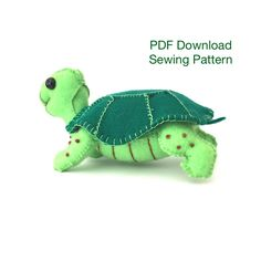 PDF,  Sewing Pattern, Felt Tortoise , Plushie Tortoise, Toy Tortoise, Downloadable Pattern, sewing tutorial, holiday project, Tortoise by EverSewNice on Etsy https://www.etsy.com/listing/527887470/pdf-sewing-pattern-felt-tortoise-plushie