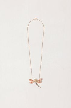 massimo dutti 2012. dragonfly pendant.