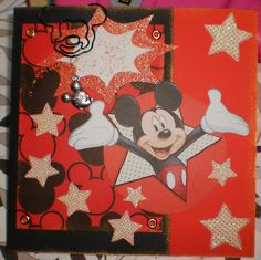 Mickey Mouse card....Custom Crafter's Creations >^._.^< By Jenny