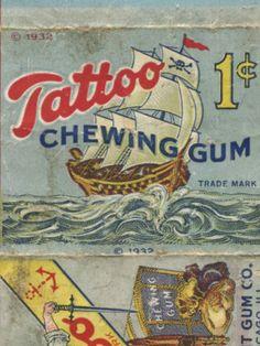 Tattoo Chewing Gum, 1932