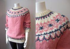 Vintage nordic sweater/ faire Isle jumper/ by StardustVintagestore, £33.00