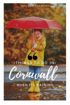 Things to do in Cornwall when it's raining, indoor attractions & activities. Family days out with kids in Cornwall. How to spend a rainy day in Cornwall, let's take a look.