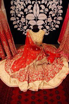 #Stunning Bridal #Lehenga by http://shop.AnitaDongre.com/ @ #Vogue_Wedding_Show 2014