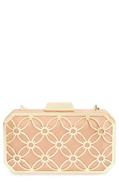 Ooh la la! This gold and blush box clutch is so beautiful.