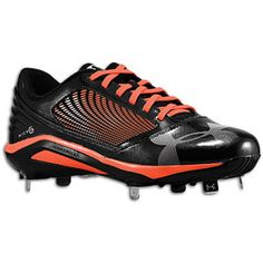 Under Armour Mens Cleats Size M 1236872081 Yard Low Black Orange Synthetic Metal Cleats, Metal Baseball Cleats, Baseball Gear, Baseball Equipment, Basketball Game Tickets, Basketball Court, Softball Cleats, Volleyball, Country Sweatshirts