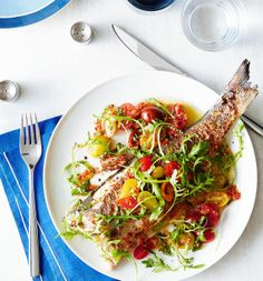 Branzino With Herbs, Tomatoes and Thai Chilies by Tyson Cole, wsj