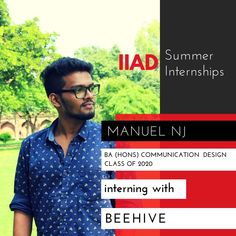 Congratulations Manuel! .  We're sure you're thoroughly enjoying your Summer internship working with the talented team at The Beehive India. .  The Beehive India is an experimental breakthrough in the tech-savvy world of design, the brainchild of Mr. Pankaj Narain (Faculty at IIAD). It specializes in a vast variety of wooden textures retrieving and offering some unique unconventional designs that are simply awe-inspiring!