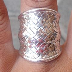 New Sterling Silver Balinese Free size Ring Carved hand Shop Till You Drop, Balinese, Handmade Sterling Silver, Cuff Bracelets, Jewelery, Jewelry Watches, Silver Rings, Free Shipping, Woman
