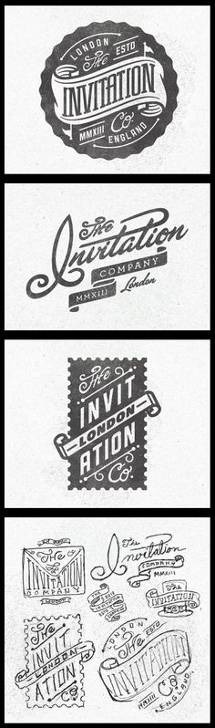 The Invitation Company logos by Kendrick Kidd #logos #logodesign #badges