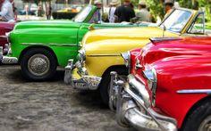 Lataa kuva Havana, vintage autot, 4k, Kuuba