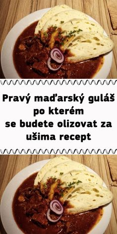 Czech Recipes, Ethnic Recipes, Food Art, Food Videos, Recipies, Food And Drink, Cooking Recipes, Beef, Breakfast