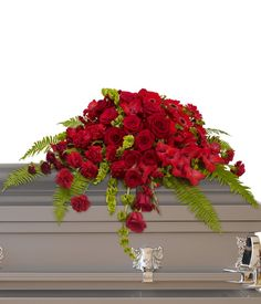 Send your condolences with funeral flowers. Wreaths, crosses, baskets as well as large standing funeral sprays and casket sprays. Casket Flowers, Funeral Flowers, Altar Flowers, Funeral Floral Arrangements, Flower Arrangements, Funeral Sprays, Casket Sprays, Order Flowers Online, Sympathy Flowers