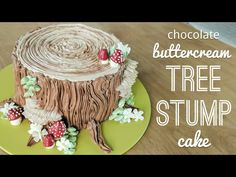 Relaxing cake decorating: all buttercream tree stump cake – piping bark,… Entspannende Tortendekoration: Buttercreme-Baumstumpfkuchen – Paspelrinde, … Cake Decorating Techniques, Cake Decorating Tutorials, Decorating Ideas, Tree Mushrooms, Stuffed Mushrooms, Tree Stump Cake, Tree Stumps, Gift Box Cakes, Cake Piping
