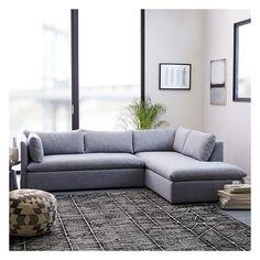 grey microfiber couch l
