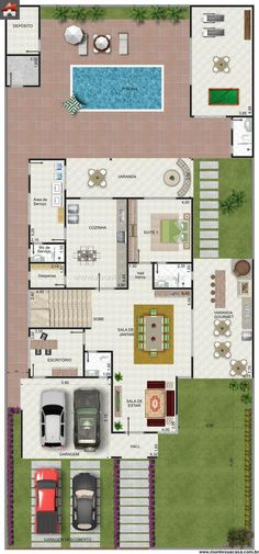 ideas house architecture contemporary garage for 2019 Layouts Casa, House Layouts, Modern House Plans, House Floor Plans, Craftsman Floor Plans, Floor Plan Layout, Barn Renovation, Sims House, Home Design Plans