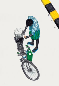 Bombay Duck Designs: Studio of Indian illustrator and visual artist, Sameer Kulavoor. Bicycle Illustration, Indian Illustration, Imagination Art, Bike Poster, Game Of Thrones Art, Om Namah Shivaya, Cycling Art, Indian Paintings, Indian Art