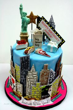 Fabulous New York Themed Ideas Themed parties City and Cake